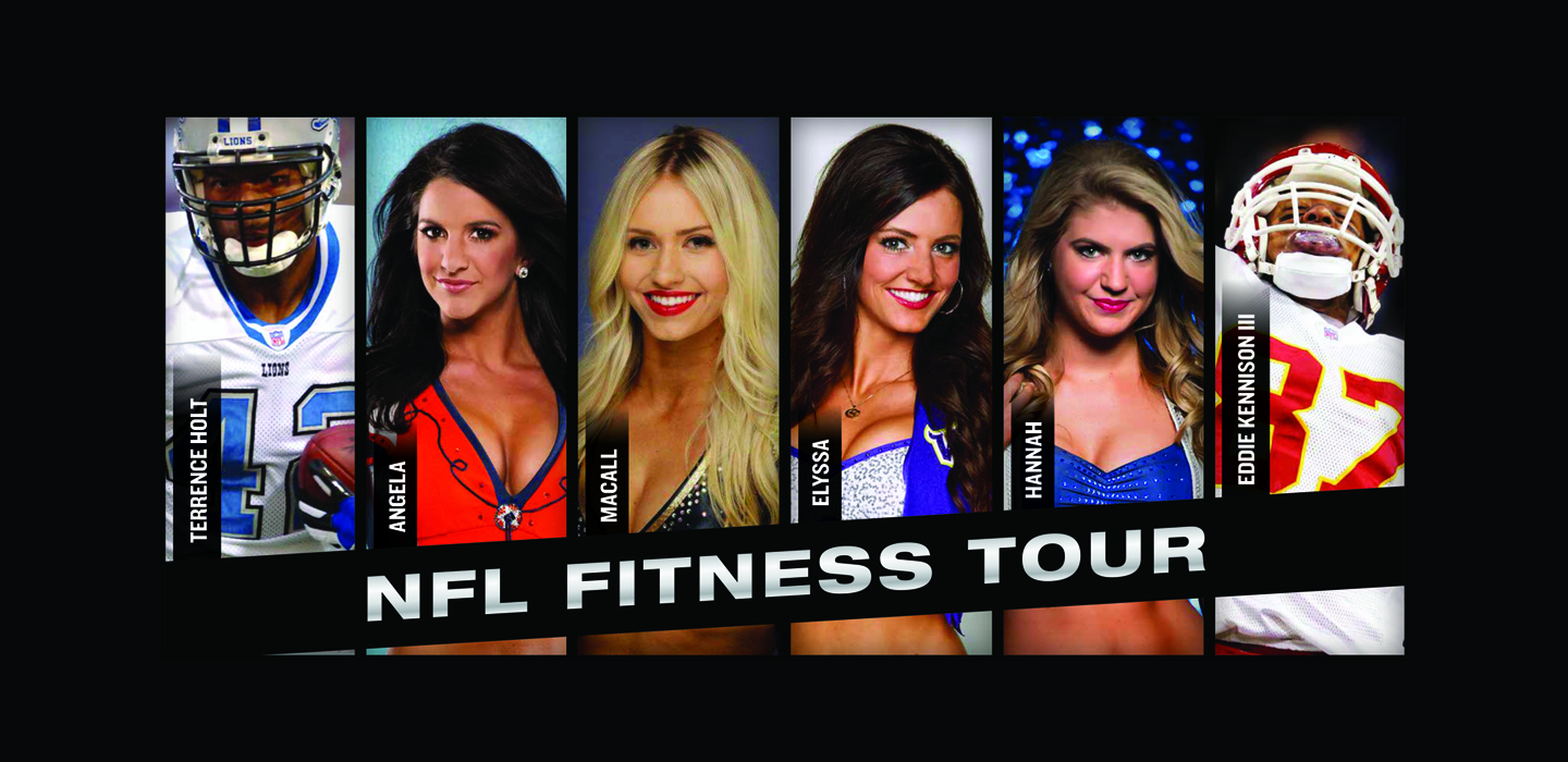 Former NFL Players and Cheerleaders tour to help inspire physical fitness in the military.Get Fit With the NFL